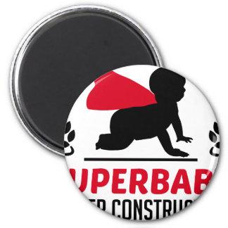 superbaby under construction magnet
