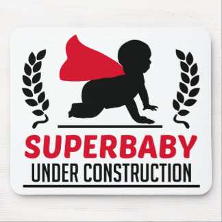 superbaby under construction mouse pad