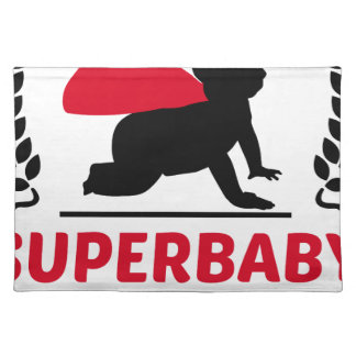 superbaby under construction placemat