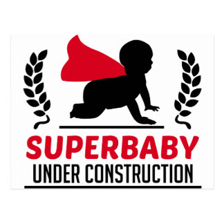 superbaby under construction postcard