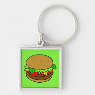 SUPERBURGER KEY CHAIN- CANT LOSE IT-ELEC.GREEN KEYCHAIN