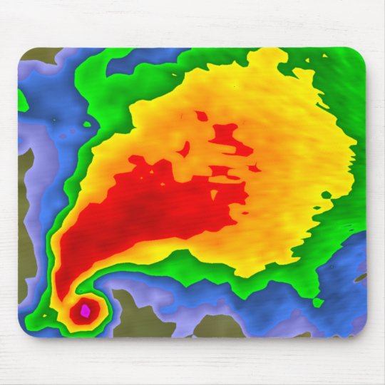 Supercell on Radar Mousepad for the Meteorologist