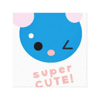 superCUTE canvas print