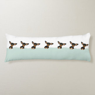 Supercute dachshund puppies in bed pillow design