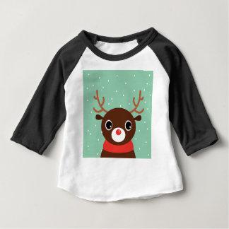 Supercute kids brown Reindeer Baby T-Shirt