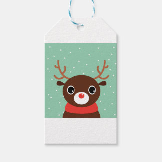 Supercute kids brown Reindeer Pack Of Gift Tags