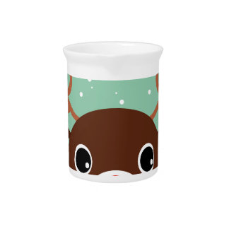 Supercute kids brown Reindeer Pitcher
