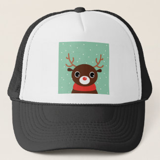 Supercute kids brown Reindeer Trucker Hat