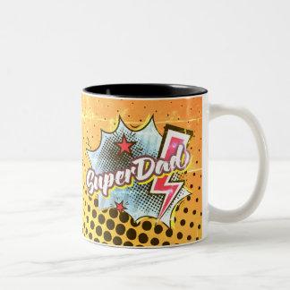 SuperDAD Coffee Mug comic superhero words VINTAGE