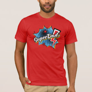SuperDAD superhero comic Father's Day t-shirt RED