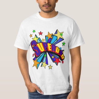 Superdad with Comic Book Style T-Shirt
