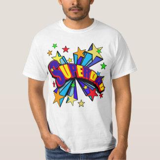 SuperDad! with Stars and Cartoon Design T-Shirt