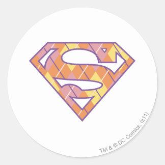 Supergirl Argyle Logo Classic Round Sticker