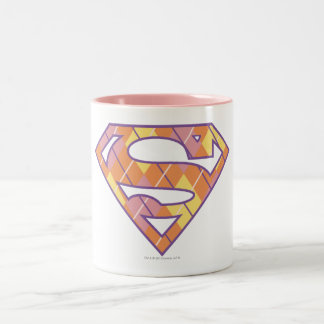 Supergirl Argyle Logo Two-Tone Coffee Mug