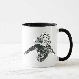 Supergirl Black and White Drawing 1 Mug
