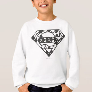 Supergirl Black Argyle Logo Sweatshirt
