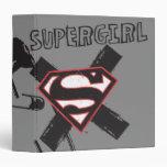 Supergirl Black Safety Pins Binder