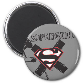 Supergirl Black Safety Pins Magnet