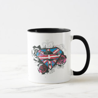 Supergirl British Flag and Roses Mug