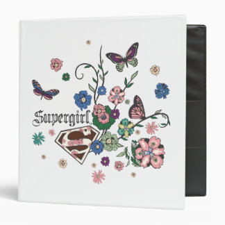 Supergirl Butterflies Vinyl Binders