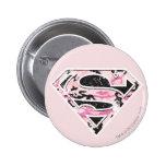 Supergirl Camouflage Logo 2 Inch Round Button