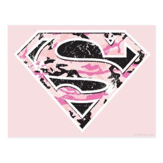 Supergirl Camouflage Logo Postcard
