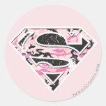 Supergirl Camouflage Logo Round Sticker