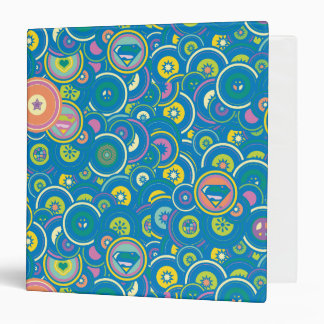 Supergirl Circle Blue Pattern Binder
