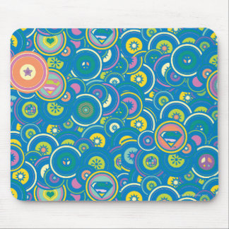 Supergirl Circle Blue Pattern Mouse Pad