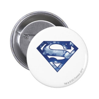 Supergirl Cloud Logo Pinback Button