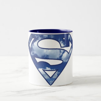 Supergirl Cloud Logo Two-Tone Coffee Mug