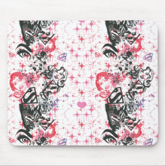 Supergirl Collage Pattern Mousepads