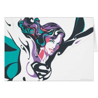 Supergirl Color Splash Pose 3 Greeting Card