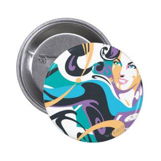 Supergirl Color Splash Swirls 1 2 Inch Round Button