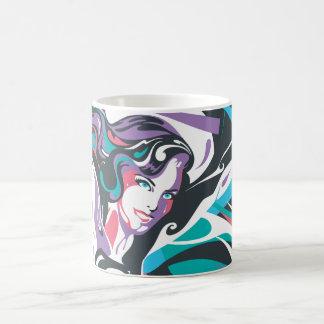 Supergirl Color Splash Swirls 2 Classic White Coffee Mug