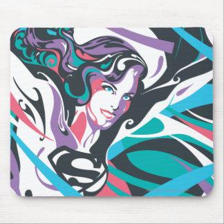 Supergirl Color Splash Swirls 2 Mouse Pad