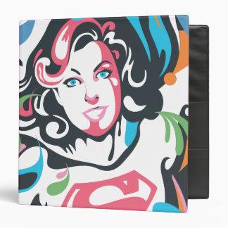 Supergirl Color Splash Swirls 3 Binder