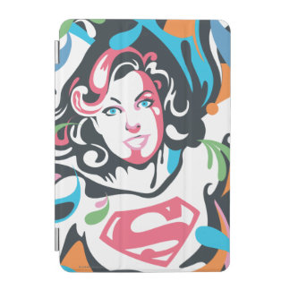 Supergirl Color Splash Swirls 3 iPad Mini Cover