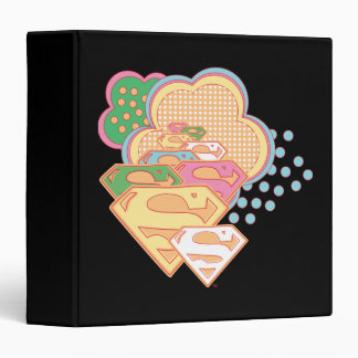 Supergirl Colorful Cloud Logo 3 Ring Binder