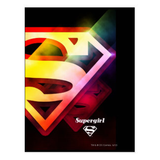 Supergirl Colorful Logo Postcard