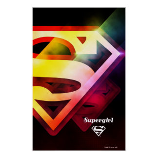 Supergirl Colorful Logo Poster