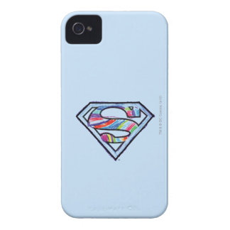 Supergirl Colorful Sketch Logo iPhone 4 Covers