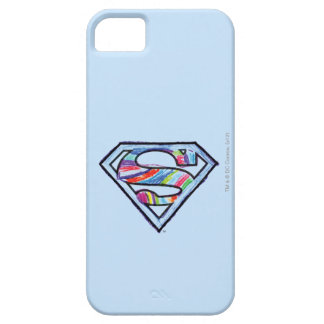 Supergirl Colorful Sketch Logo iPhone 5 Case