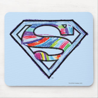 Supergirl Colorful Sketch Logo Mousepad