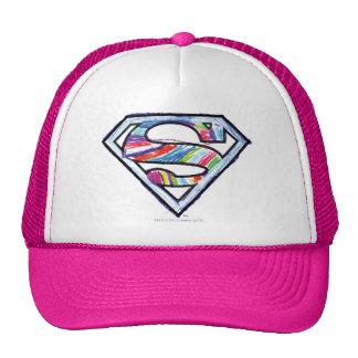 Supergirl Colorful Sketch Logo Trucker Hat