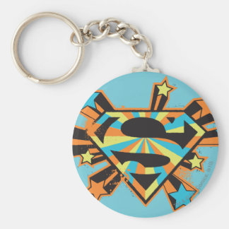 Supergirl Colorful Stars Logo Keychain