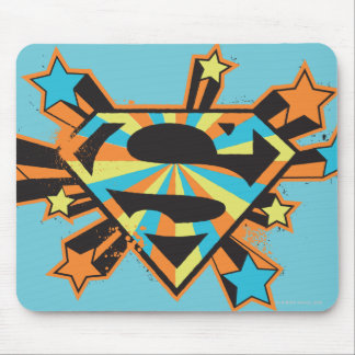 Supergirl Colorful Stars Logo Mouse Pad