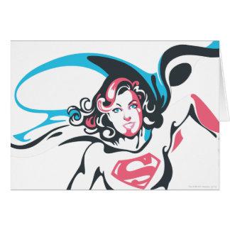 Supergirl Colour Splash Pose 2 Greeting Card