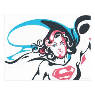 Supergirl Colour Splash Pose 2 Postcard