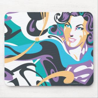 Supergirl Colour Splash Swirls 1 Mouse Pad